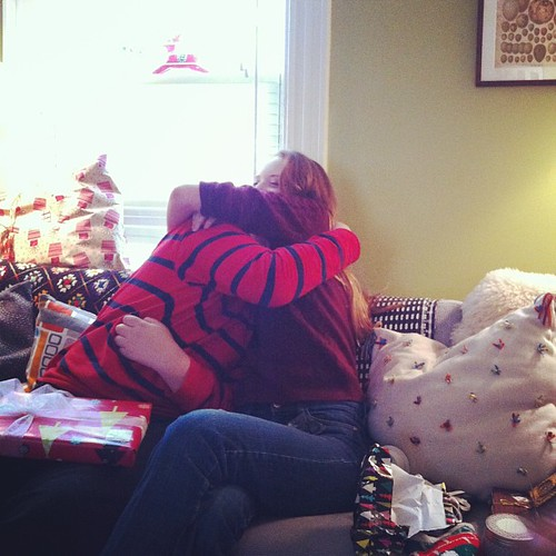 big hugs #siblings #yule