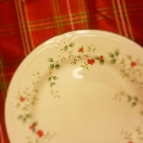 Beautiful Christmas dishes from my mama.  #ilovemymom