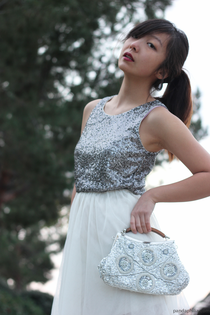 silver sequin holiday dress