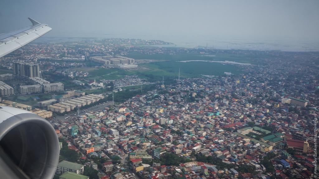 Вид на Манилу из самолета