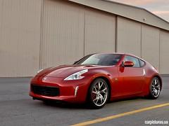 automobile(1.0), automotive exterior(1.0), wheel(1.0), vehicle(1.0), performance car(1.0), automotive design(1.0), nissan 370z(1.0), nissan(1.0), bumper(1.0), land vehicle(1.0), luxury vehicle(1.0), supercar(1.0), sports car(1.0),