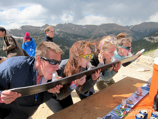 Beer Ski Shots at Loveland Pass - Colorado