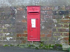 wall, post box, letter box, door, facade, brick, brickwork,