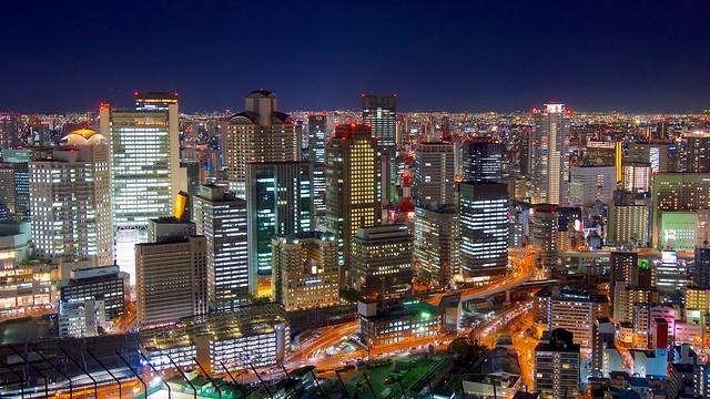 Osaka Kita by Night / 夜の大阪・北 by Jake Jung