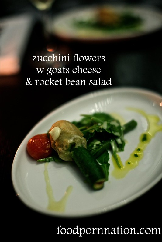 zucchini flowers w goats cheese
