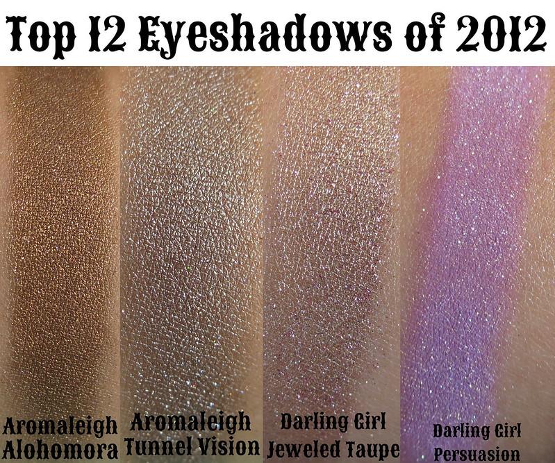 top 12 eyeshadows of 2012
