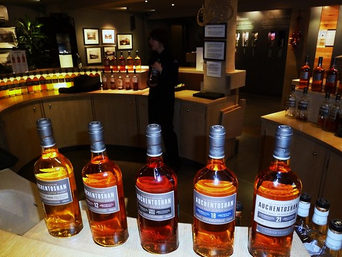 Tasting at Auchentoshan Distillery, Scotland