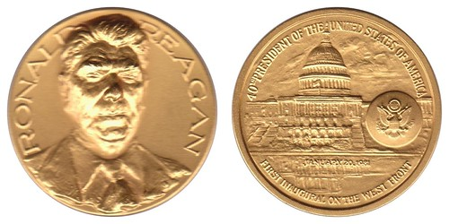 reagan inaugural medal gold plated