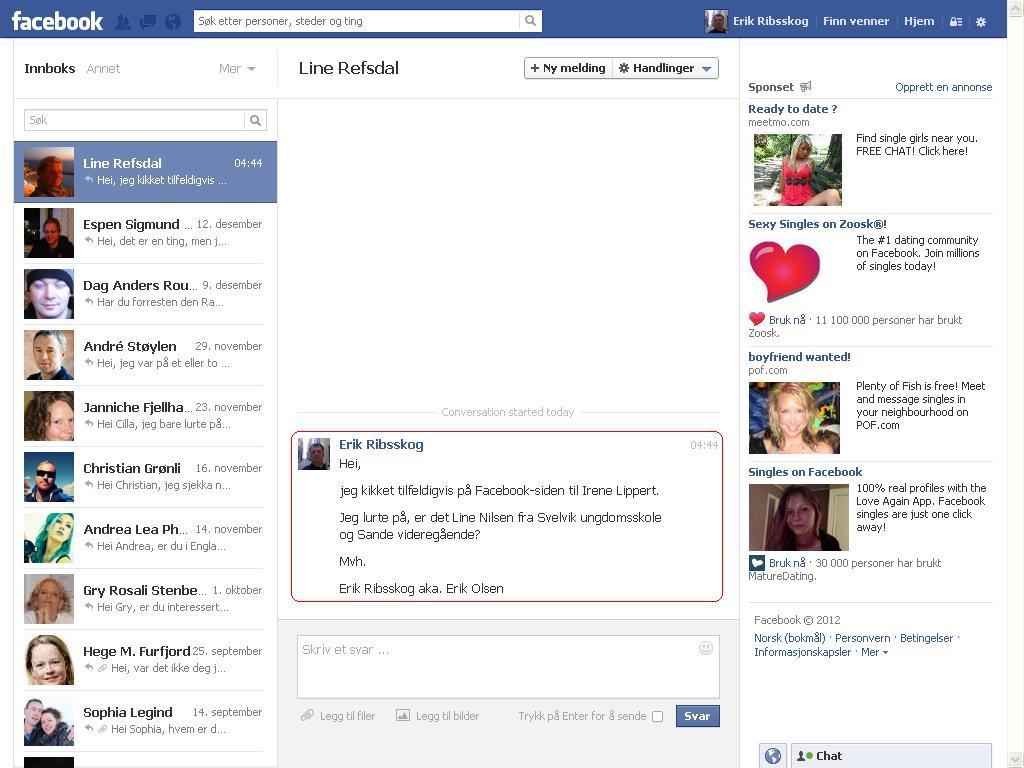 line nilsen hm facebook