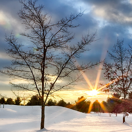 winter sunset cold landscapes nh golfcourse litchfield passaconaway