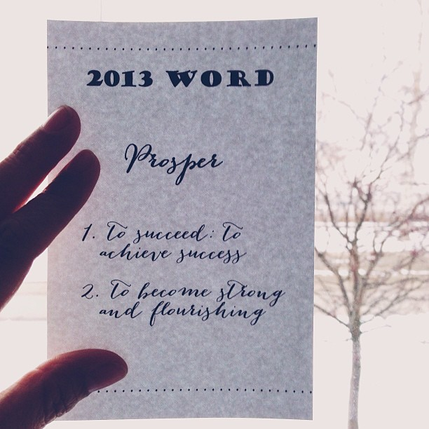 my 2013 word