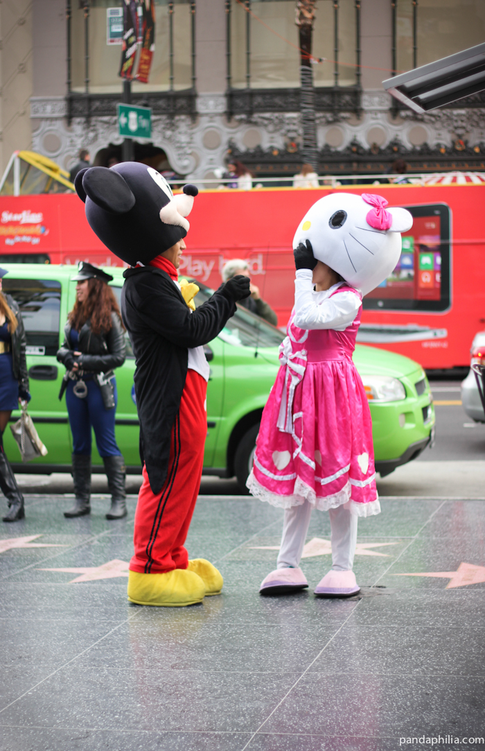 mickey and hello kitty