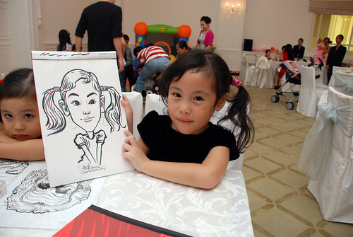 caricature live sketching for birthday party 28042012 - 3