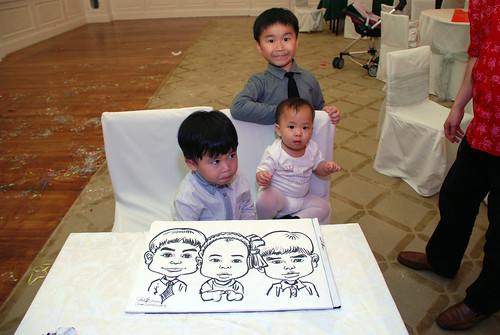 caricature live sketching for birthday party 28042012 - 17