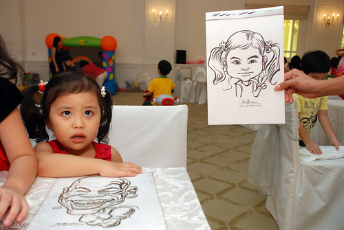 caricature live sketching for birthday party 28042012 - 4