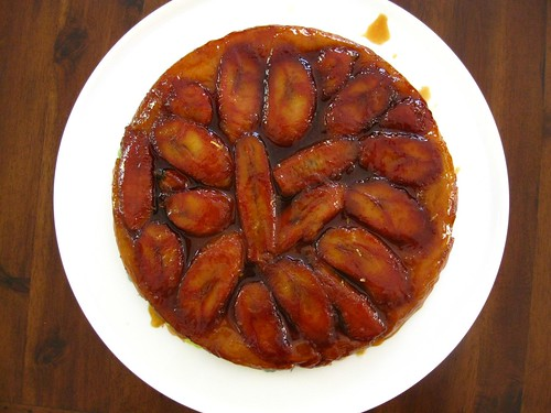Banana tart tatin with homemade puff pastry