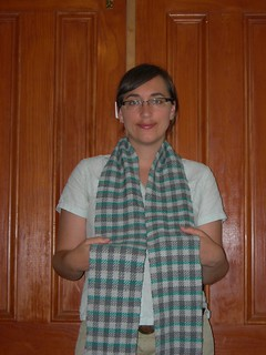 Hand woven scarf - finished