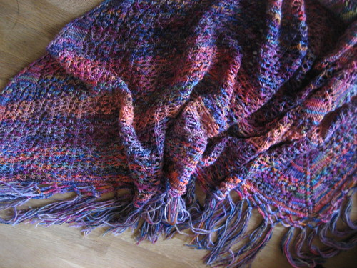 Koigu-Mill-Ends-Rosies-Yarn-Cellar-Charlottes-Web-Shawl-Knit