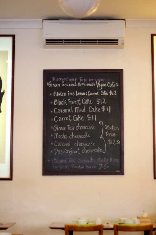 Vegan sweets menu board