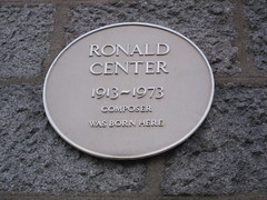 Photo of Ronald Center yellow plaque