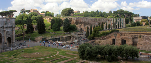 Overlooking the Roman Forum