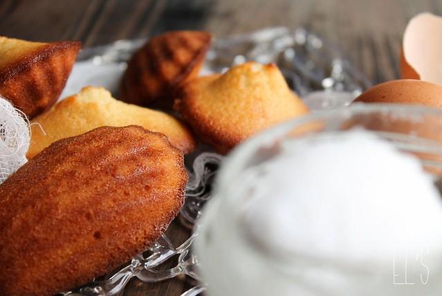 Madeleines au beurre de coco