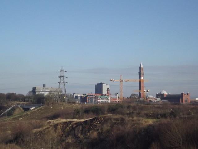 Building Site Near Queen Elizabeth Hospital Birmingham