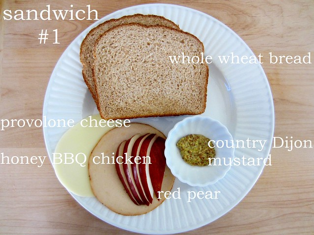 52 sandwiches #1: chicken and pear grilled cheese