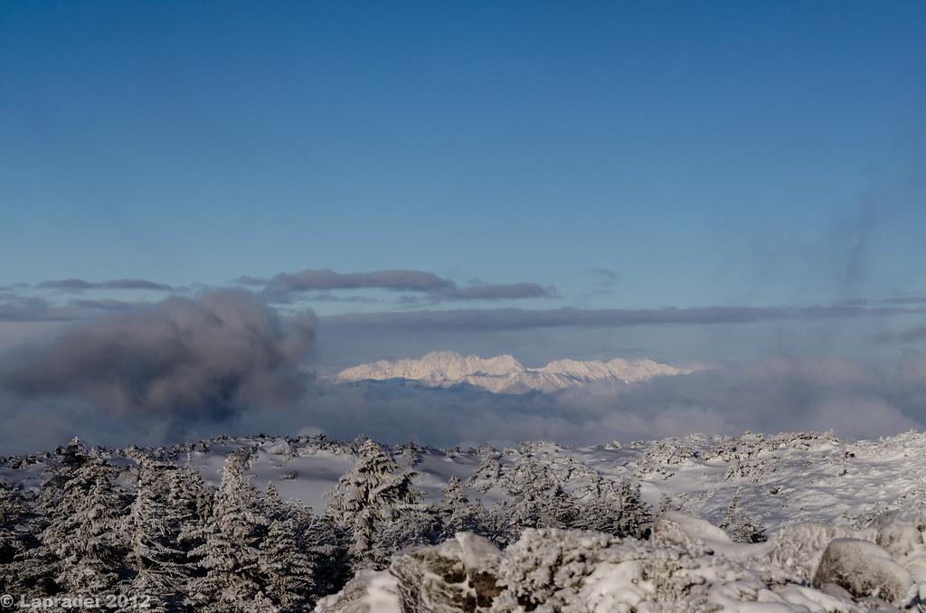 20121223 真っ白な穂高連峰