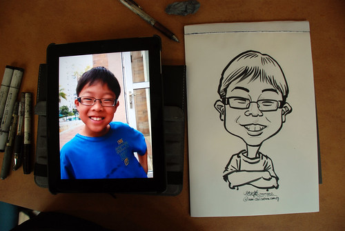caricature sketching for a birthday party 07072012 - 8
