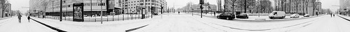 Pano with snow (B&W)
