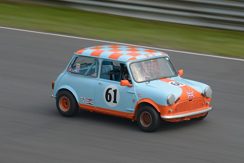 Number 61 Gulf liveried Austin Mini by albionphoto
