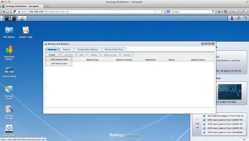 Synology DiskStation DS413j Review – Performance, Backup