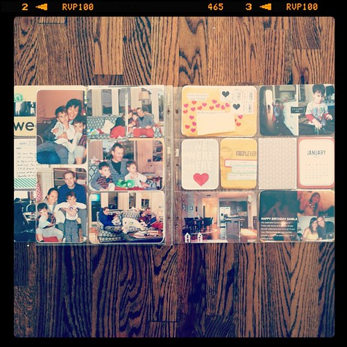 #projectlife 2013 week 1 full spread insert left side