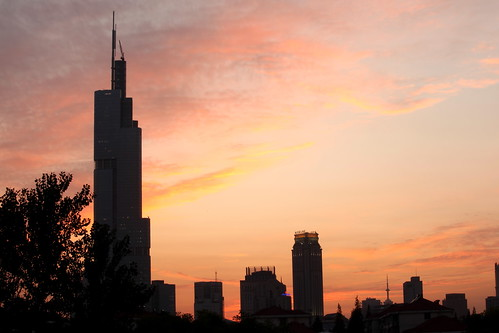 china city sunset colors sunrise canon moonrise nanjing 5d2