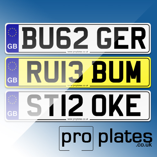 number plates banned by the DVLA
