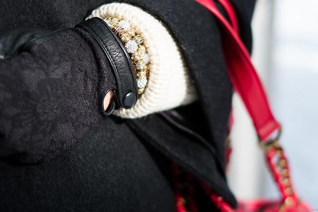 lace gloves bracelet