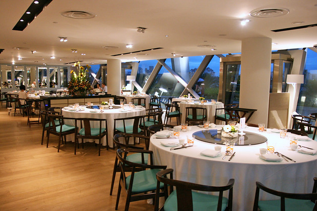 The restaurant itself features nautical chic with turquoise and warm woods