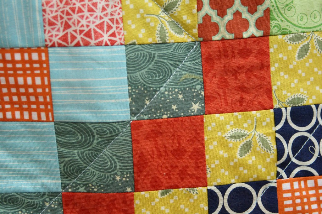 quilted with 12wt Aurifil