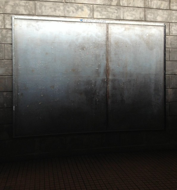 Empty commercial poster space at Odense Railway Station