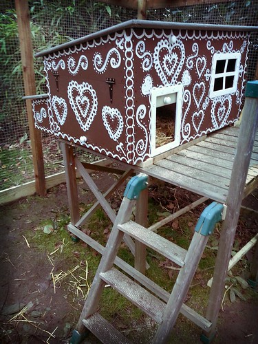 My gingerbread painting chicken coop is ready!
