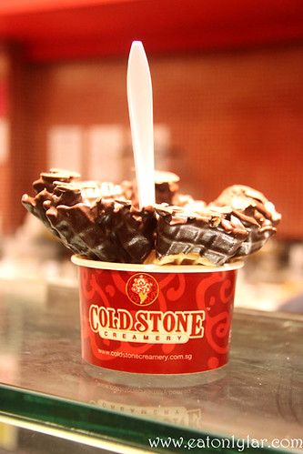 Banana Caramel Crunch in Dipped Waffle, Cold Stone Creamery