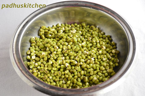 how to sprouts green gram