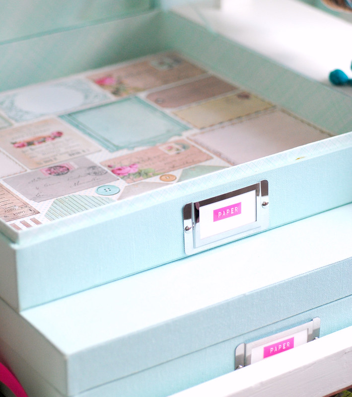 Pretty paper storage boxes