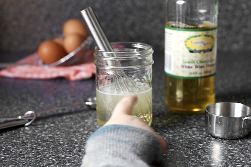 whisking the pickling liquid + helper