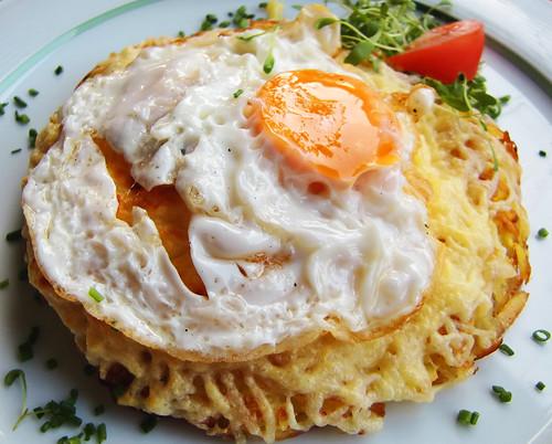 Rösti Schweiz Spezialität Rezept Kartoffeln Spiegelei