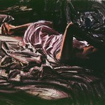 Exhausted Woman; pastel, 22 x 30 in, 1988