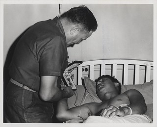 Lewis Walt Presents the Purple Heart to Bobby Cortez, 29 October 1968