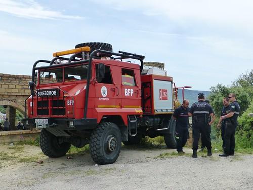 Romeria in Pruna: Spanish fire engine