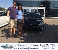 Happy Anniversary to Joanna on your #Subaru #WRX from Ryan Alger at Subaru of Plano!